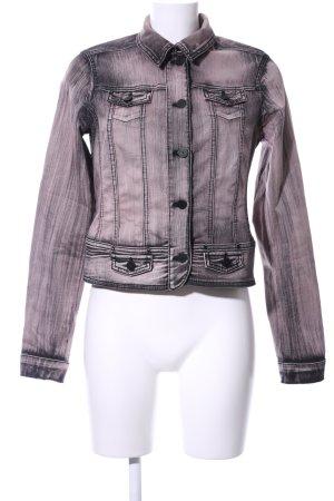 Biba Jeansjacke pink-schwarz Farbverlauf Casual-Look