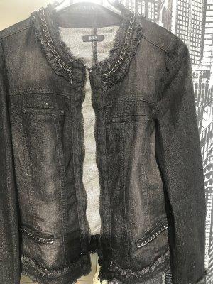 Biba Veste en jean noir-argenté