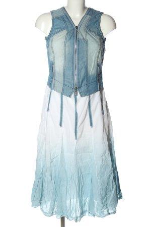 Biba Jeanskleid weiß-blau Farbverlauf Casual-Look