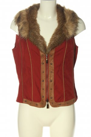 Biba Fake Fur Vest red street-fashion look