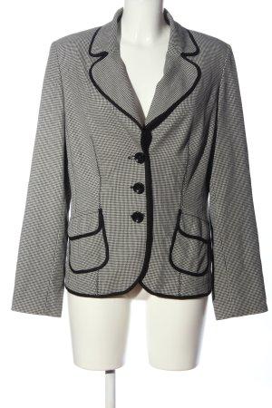 Biba Korte blazer zwart-wit volledige print zakelijke stijl