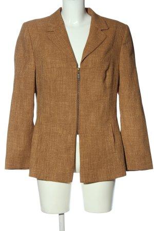 Biba Korte blazer bruin gestippeld casual uitstraling