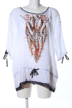 Biba Short Sleeved Blouse themed print casual look