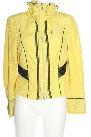 Biba Giacca corta giallo pallido-nero stile casual