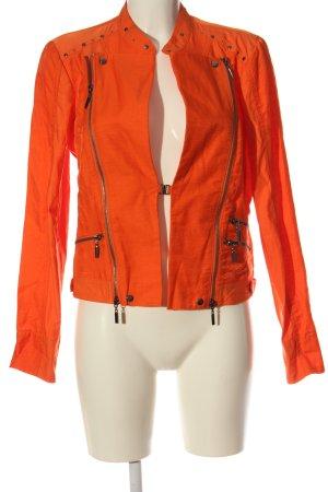 Biba Short Jacket light orange striped pattern casual look