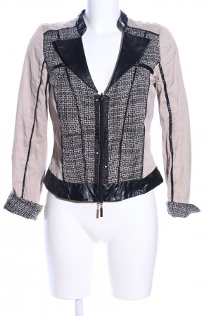 Biba Short Jacket pink-black check pattern business style