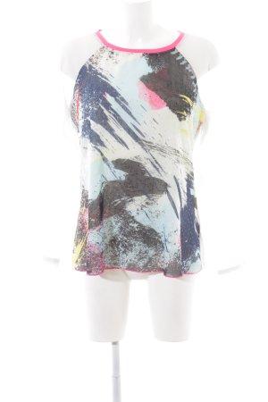 Biba Langarm-Bluse abstraktes Muster Casual-Look