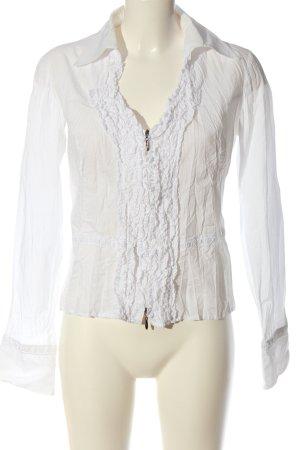 Biba Camicetta a maniche lunghe bianco stile casual