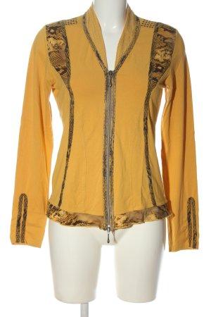 Biba Langarm-Bluse hellorange-bronzefarben Animalmuster Casual-Look