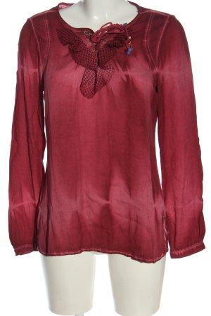 Biba Long Sleeve Blouse red casual look