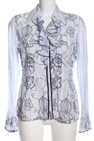 Biba Langarm-Bluse weiß-schwarz Streifenmuster Casual-Look