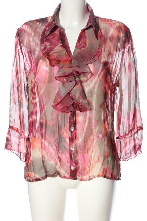 Biba Langarmhemd pink-hellgrau abstraktes Muster Casual-Look