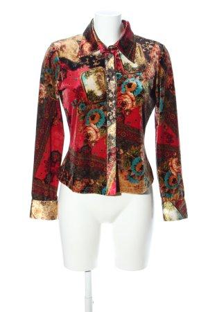 Biba Long Sleeve Shirt mixed pattern classic style