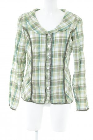 Biba Camisa de manga larga estampado a cuadros look casual
