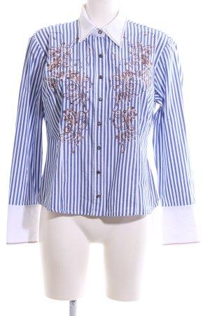 Biba Langarmhemd blau-weiß Streifenmuster Casual-Look