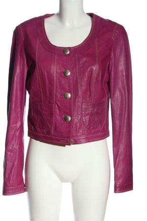 Biba Blazer en cuir rose style décontracté