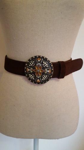 Biba Cinturón de cuero marrón oscuro