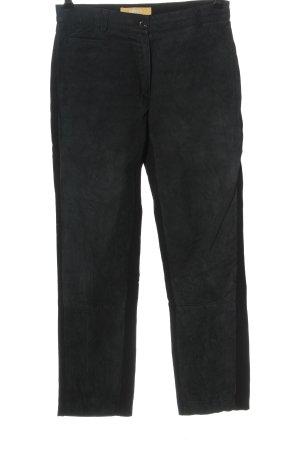 Biba Pantalón de cuero negro look casual