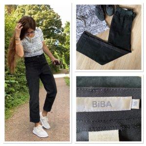 Biba Lederhose schwarz Casual-Look Leder