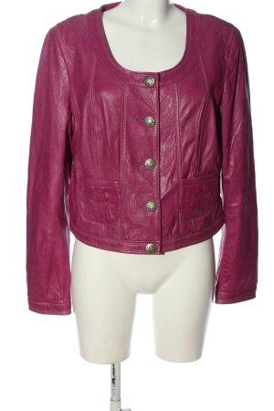 Biba Leather Jacket pink casual look