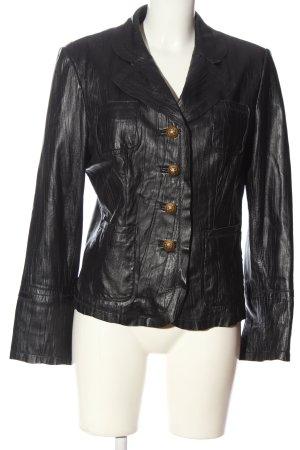 Biba Leather Jacket black casual look
