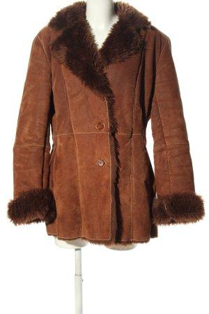 """Biba Leather Coat """"W-kbmrxf"""" brown"""