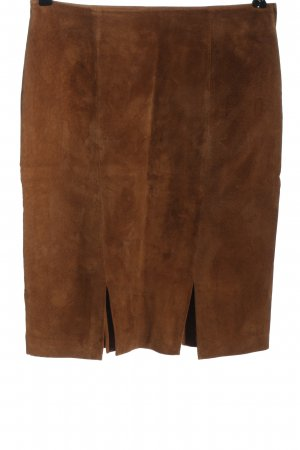 Biba Leather Skirt brown casual look