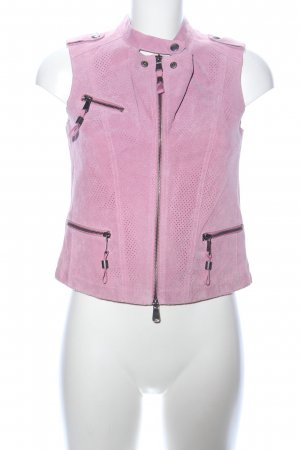 Biba Leather Vest pink casual look