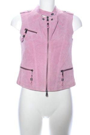 Biba Lederweste pink Casual-Look