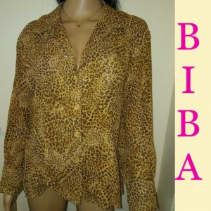 Biba Long Sleeve Blouse multicolored mixture fibre