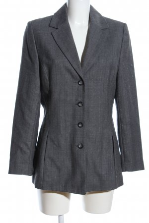 Biba Long-Blazer hellgrau meliert Business-Look