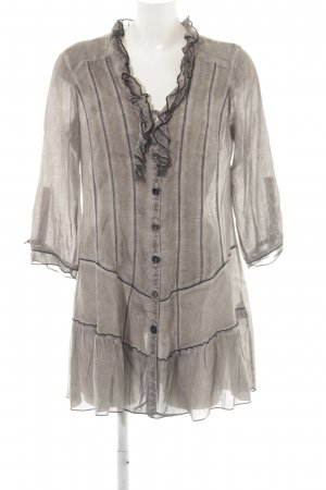 Biba Long-Bluse bronzefarben Transparenz-Optik