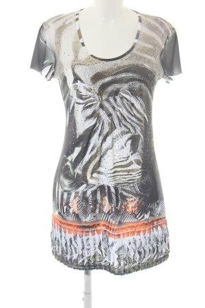 Biba Camisa larga estampado con diseño abstracto look casual