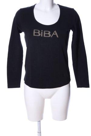 Biba Longsleeve black printed lettering casual look