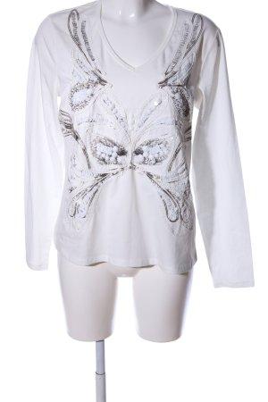 Biba Longsleeve white-light grey themed print casual look