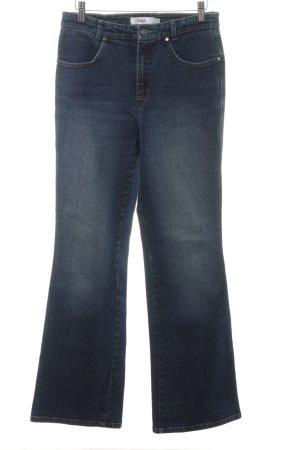 Biba Jeans large bleu foncé style délavé