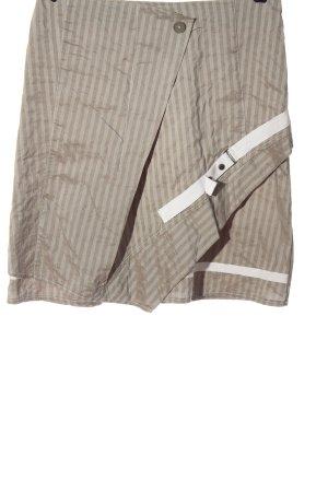 Biba Minigonna grigio chiaro-bianco sporco motivo a righe stile casual