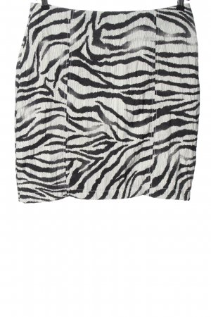 Biba Minigonna bianco-nero motivo animale stile casual