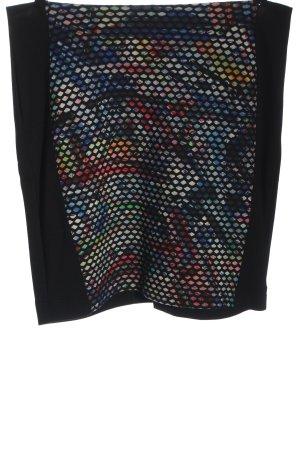Biba Minirock schwarz Motivdruck Casual-Look
