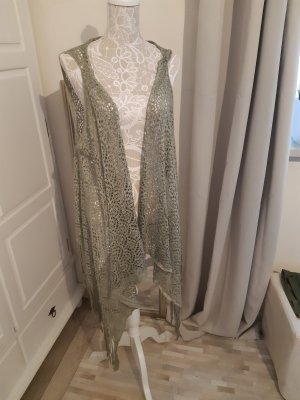 Biba Veste à franges kaki polyester