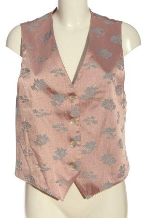 BIBA pariscop Gilet de costume rose-gris clair imprimé allover