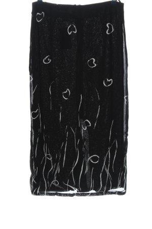 BIBA pariscop Bleistiftrock schwarz-weiß Motivdruck Elegant
