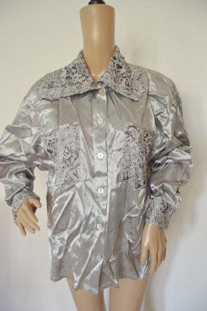 Biba Pariscop Bluse silber glänzend