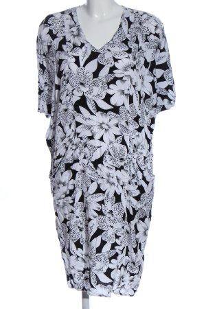 BIBA pariscop Sukienka z krótkim rękawem czarny-biały Na całej powierzchni