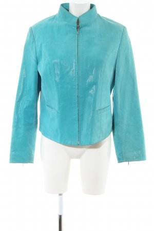 BIBA pariscop Leather Jacket turquoise casual look