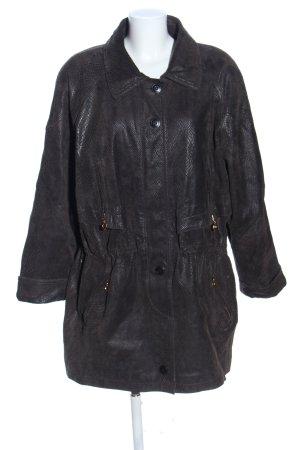 BIBA pariscop Manteau en cuir noir motif animal style décontracté