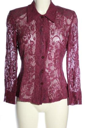 BIBA pariscop Koronkowa bluzka różowy Wzór w kwiaty Elegancki