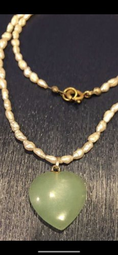 Pearl Necklace white-green