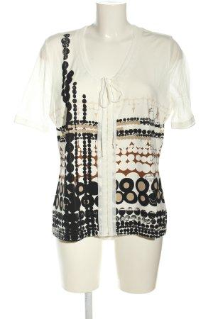 Biba Print-Shirt abstraktes Muster Casual-Look