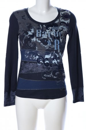 Biba Print Shirt black-blue abstract pattern casual look